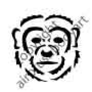 0239 monkey face reusable stencil